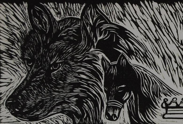 beddgelert wolf detail