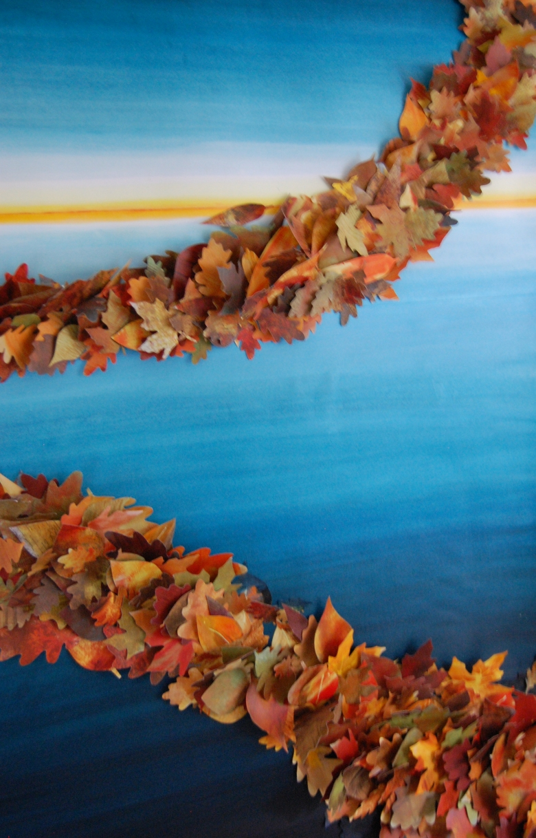 leaves sculpture painting